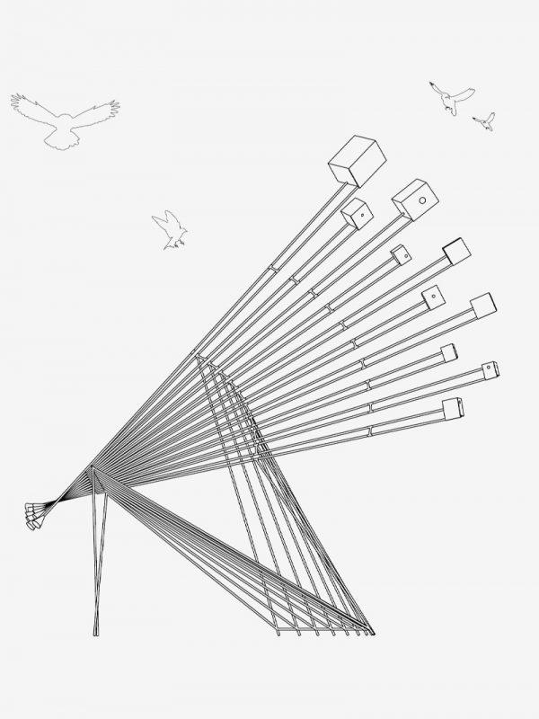 """Pequeno Coro na Natureza"" (2021). Linfeng Zhou"